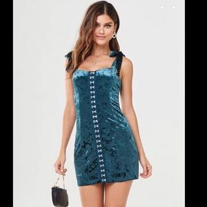 Forever 21 Crushed Velvet Mini Dress